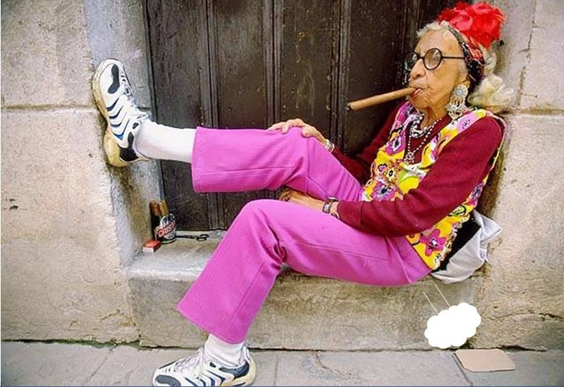 Old lady fart