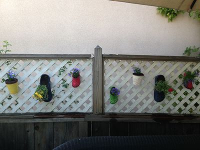 Crocs as hanging planters
